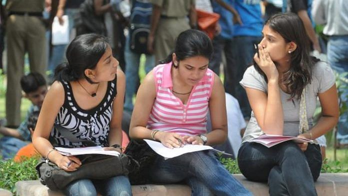 Representational Image | Students at Delhi University | Photo: www.du.ac.in