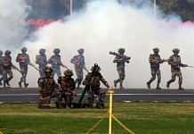 A contingent of the Indian Army showcase their skills on Army Day, in Delhi | Suraj Singh Bisht | ThePrint File Photo