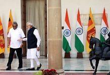 Sri Lankan President Gotabaya Rajapaksa with PM Narendra Modi in Hyderabad House in November 2019 | Praveen Jain | ThePrint