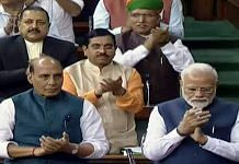 The Narendra Modi government has announced a 30 per cent pay cut for MPs, and suspended MPLADS funds | Photo: ANI via Lok Sabha TV