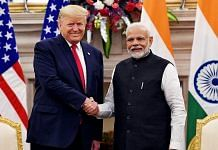 File image of US President Donald Trump and PM Narendra Modi | Photo: ANI