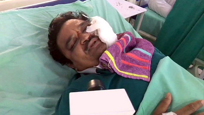 Dr S.C. Agarwal was among those injured in a Covid-19-related mob attack in Moradabad | Photo: ANI