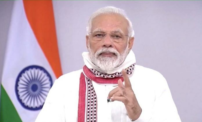 PM Modi's address to the nation on extension of lockdown on 14 April. Photo | YouTube