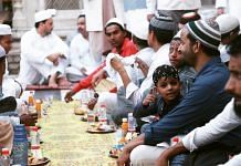 People sit for a community meal during Ramzan   Manisha Mondal   ThePrint File Photo