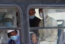 Suspected Covid-19 patients being transported to various hospitals from the Nizamuddin Markaz in New Delhi