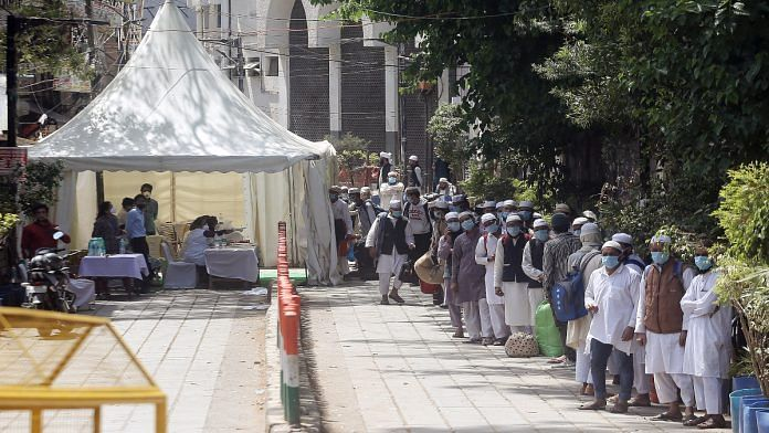File image of Tablighi Jamaat attendees being moved out of the Nizamuddin Markaz mosque in New Delhi | Photo: ANI