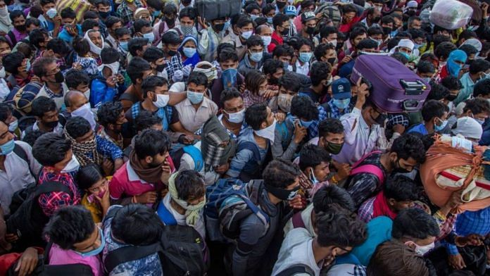 The nationwide lockdown announced by the Modi government has triggered mass migration in India | Bloomberg