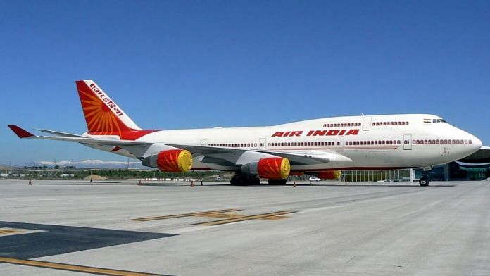 File photo of an Air India plane | Representational image | Commons