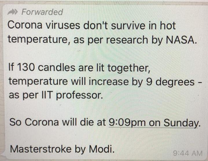Indians are fighting against coronavirus and BJP IT cell is fighting against Indians