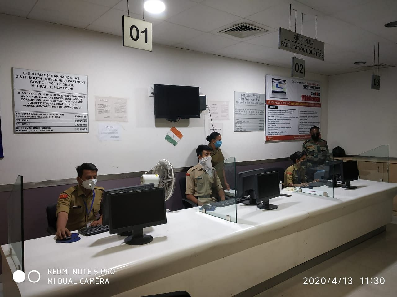 The cadets at a data control centre   Photo: NCC