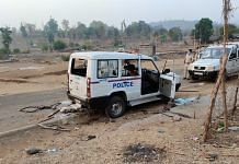Police vehicles damaged by the mob at Gadchinchale village | By special arrangement