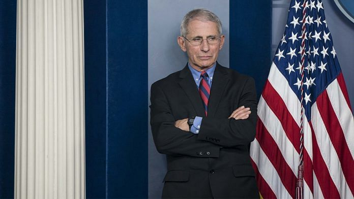 A file photo of US NIAID director Anthony Fauci. | Photo: Bloomberg/Sarah Silbiger