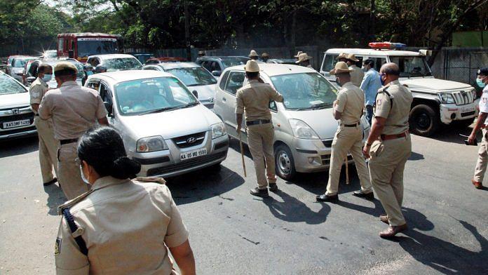 Representational image of police personnel in Bengaluru | ANI
