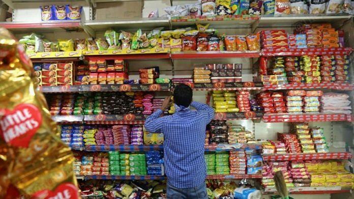 A local grocery story in Bengali Market, Delhi   Photo: Manisha Mondal   ThePrint
