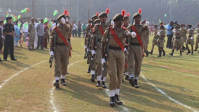A file photo of NCC parade at by SD cadets at IIT Bombay. | Photo: Commons
