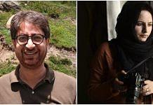 Kashmiri journalists Peerzada Ashiq and Masrat Zahra (R) | Facebook
