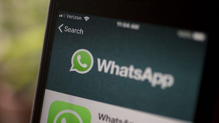 WhatsApp application is displayed in the App Store. Photographer: Andrew Harrer | Bloomberg