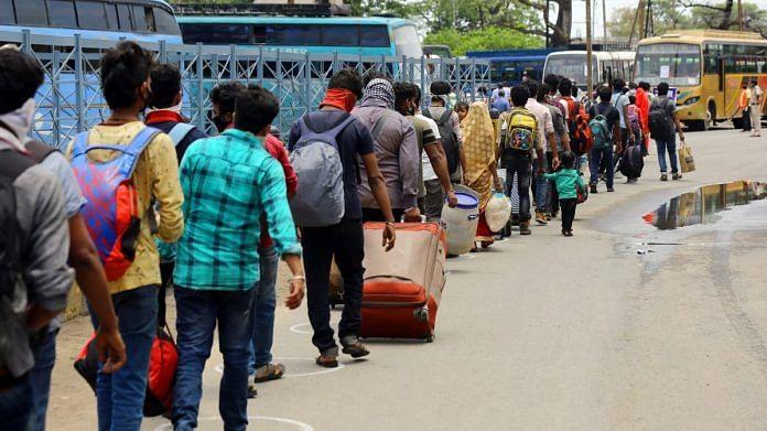 Migrants heading out of Danapur railway station in Bihar   Photo: Suraj Singh Bisht   ThePrint