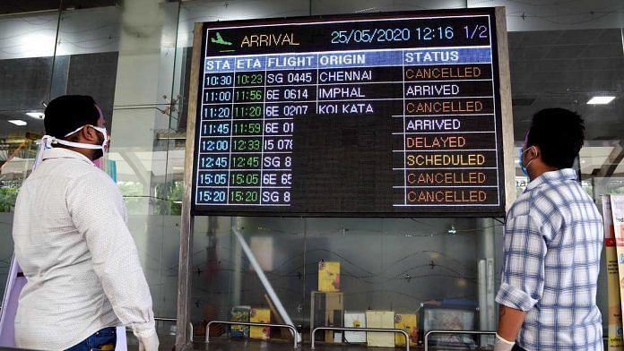 Many passengers came to know that flights had been cancelled after reaching airports, because different states made different rules (representational image) | Photo: ANI