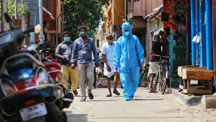 The police quarters in Chennai's Royapuram recorded nine cases in total. Tamil Nadu saw its highest spike Covid infections on 28 May, 2020 | Manisha Mondal | ThePrint