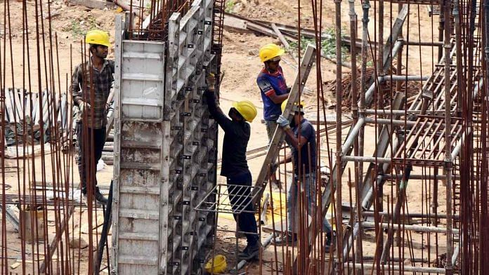 Construction workers in New Delhi (representational image) | Photo: ANI
