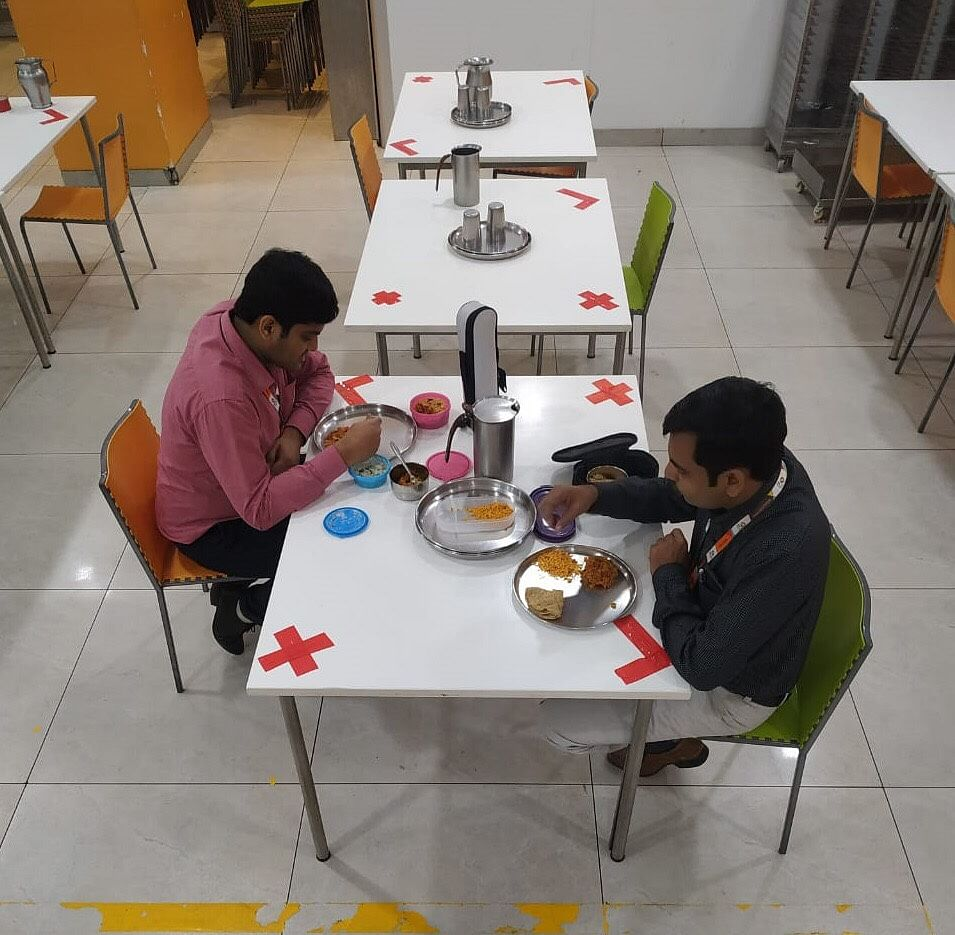 The canteen at the Mumbai-based Lupin Pharmaceuticals   By special arrangement