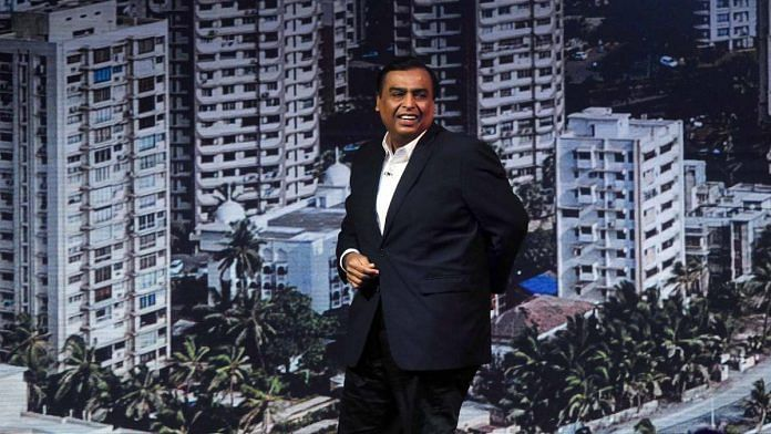 File image of Reliance Industries chairman Mukesh Ambani | Photo: ANI