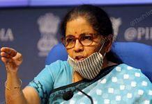 Finance Minister Nirmala Sitharaman | Photo: Suraj Singh Bisht | ThePrint
