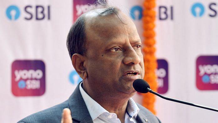 File image of SBI chairman Rajnish Kumar | Photo: ANI
