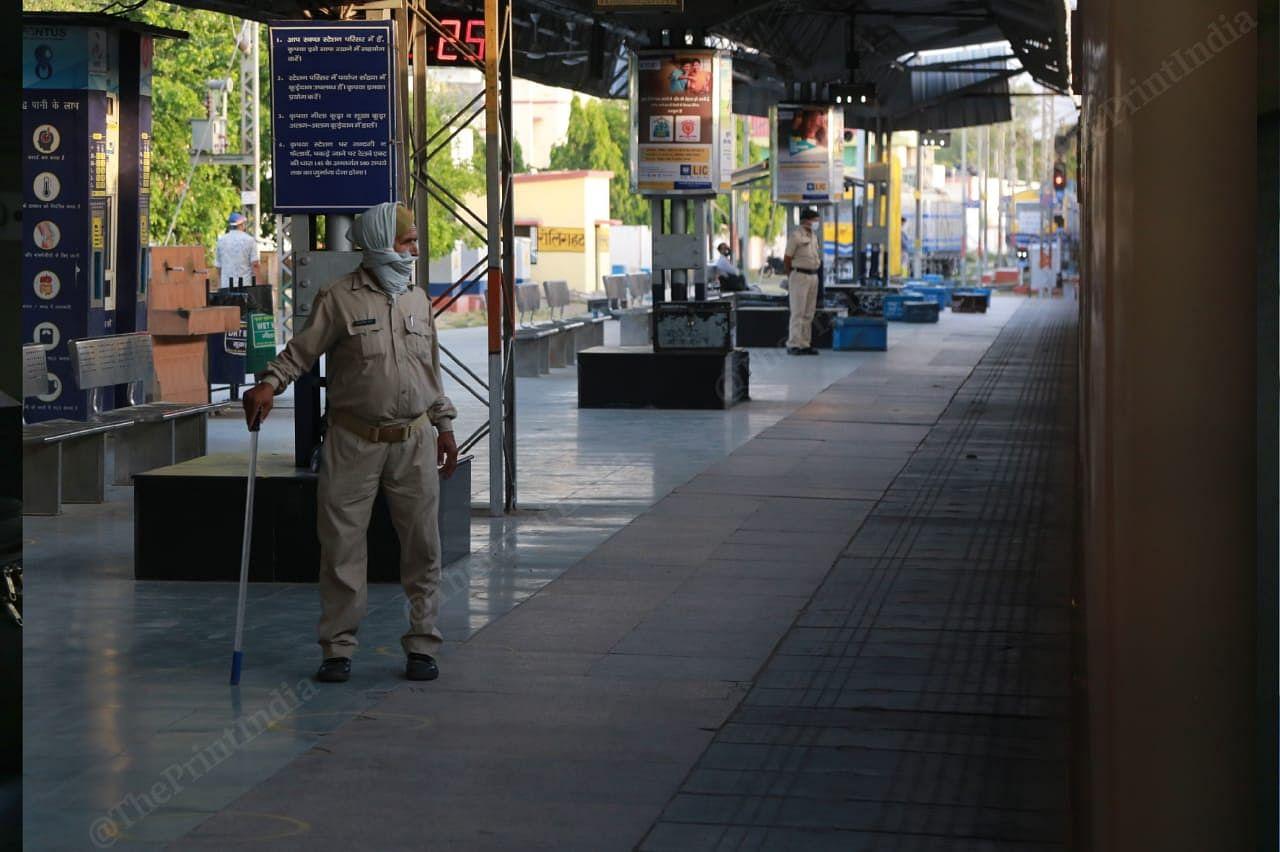 A deserted Agra station on the way to Chennai from New Delhi | Photo: Manisha Mondal | ThePrint