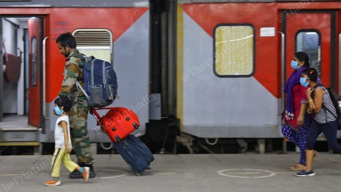 Representational image of passengers at a railway station | Photo: Suraj Singh Bisht | ThePrint