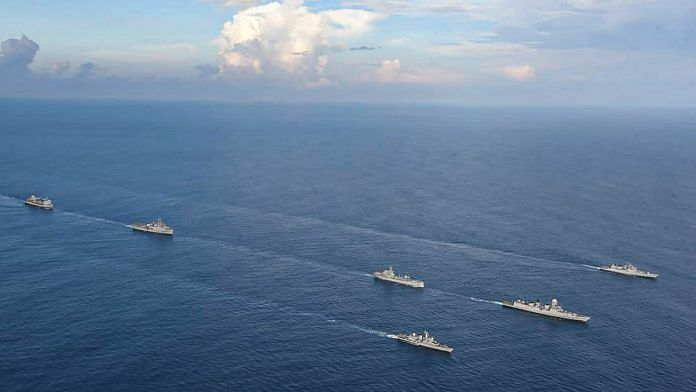 Representational image of Western Fleet ships deployed in the Indian Ocean Region with INS Jalashwa | File photo: PTI