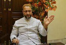 Owaisi at his residence in Hyderabad | Photo: Suraj Singh Bisht | ThePrint