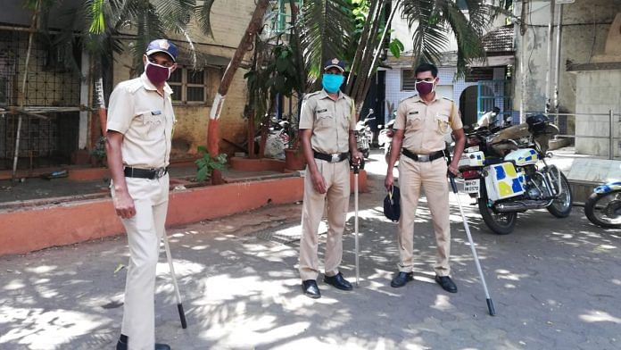 Constables at the Nagpada police station in Mumbai | Photo: Swagata Yadavar | ThePrint