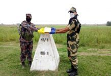 BSF exchanges sweets with Bangladesh on the occasion of Eid-ul-Fir. Photo |Twitter