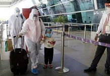 Passengers at Indira Gandhi International Airport after domestic flights resumed on 26 May | Suraj Singh Bisht | ThePrint