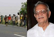 Lyricist and poet Gulzar has written on the exodus of migrant workers. | ThePrint