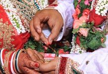 The sindoor ceremony is a traditional part of many Hindu weddings   Wikimedia Commons