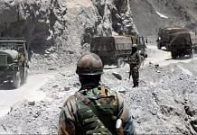 Representational image of an army convoy moving towards Ladakh | File photo: ANI