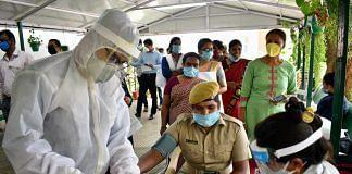 Representational image | Covid-19 testing in Bengaluru | ANI