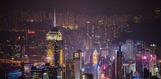 Hong Kong skyline as seen from Victoria Peak at night | Paul Yeung | Bloomberg