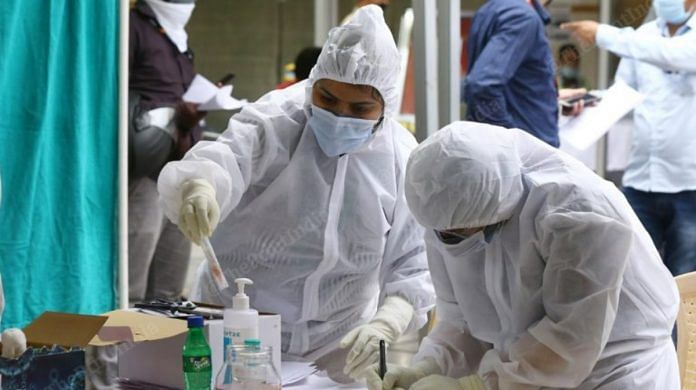 Medical workers collecting samples for Covid-19 in New Delhi | Representational Image | Photo: Suraj Singh Bisht | ThePrint