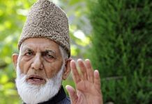 File image of Syed Ali Shah Geelani | Photo: ANI