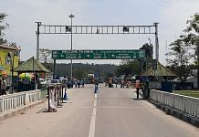 The Indo-Nepal border shut down after the announcement of Nepal's government to contain the coronavirus pandemic, in Kakarvitta in March