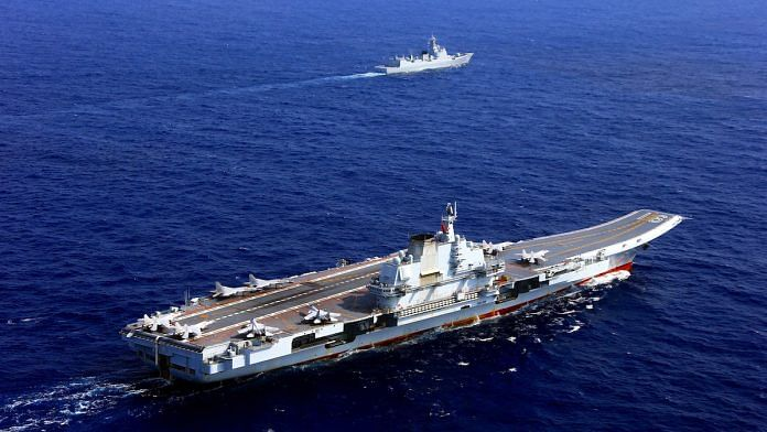 China's Liaoning aircraft carrier in the West Pacific | Flickr