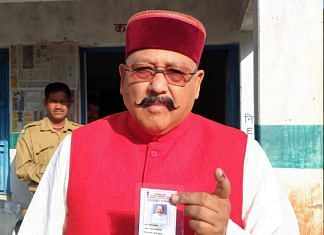 Uttarakhand Tourism Minister Satpal Maharaj during the 2019 Lok Sabha polls | Photo: ANI