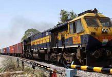 An Indian Railways goods train | Photo: ANI