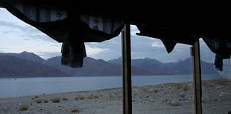 A file photo of Pangong Lake in Ladakh | Visharad Saxena | Special arrangement