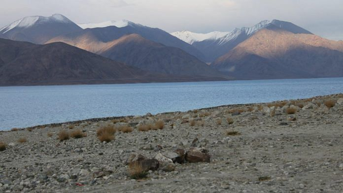 Representational image taken from the southern bank of Pangong Tso, looking across to the 'fingers' on the northern bank | Photo: Visharad Saxena | By special arrangement