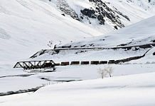 Trucks carry essential commodities in Ladakh | Representational image | ANI